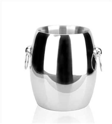 WJCCY Stainless Popular product Steel Ice Bucket with Wall Pl Double Insulation Limited time for free shipping