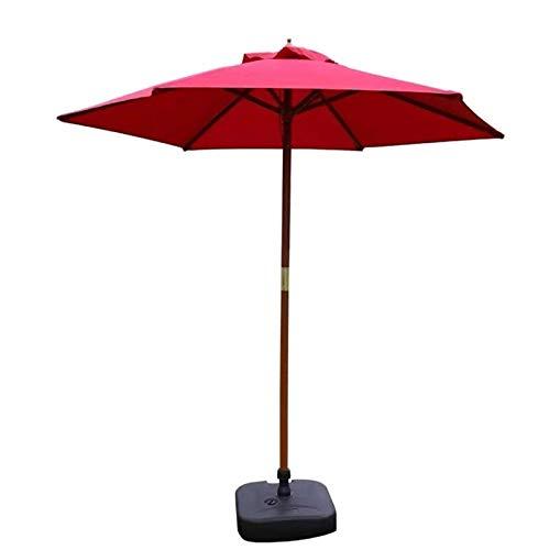 Sombrillas de jardín al aire libre Sombrillas Sombrilla de mesa redonda para patio de 7 pies Sombrilla de mercado al aire libre, 70% tela de poliéster resistente a los rayos UV y soporte de ma