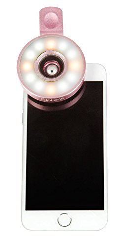 Fashionit GloLens-Wide Angle Illuminating Selfie Cell Phone Lens (Rose Gold)