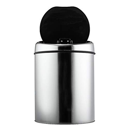 xingxing Industrial Hardware 3/4/6L Edelstahl-Mülleimer mit Sensor, berührungslose Bewegung, automatisches Öffnen, Recycler-Abfalleimer (Farbe: 3 l)