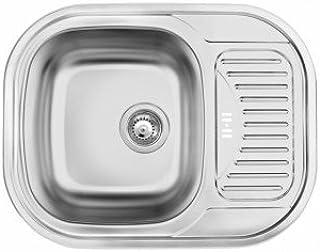 Einbauspüle Edelstahl Spülbecken Küchenspüle Edelstahlspüle- Waschbecken -Modell :FIESTA-SATIN-DEANTE