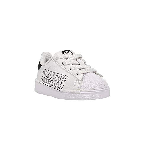 adidas Originals Baby Superstar Elastic Sneaker, White/Black, 6 Toddler US