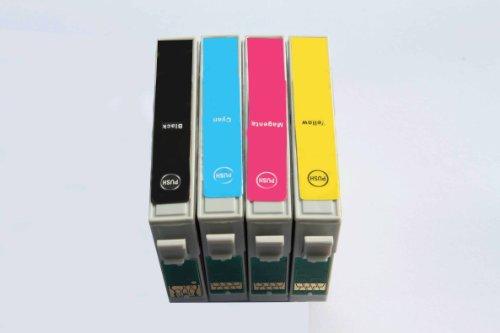 10 x Epson kompatible Tintenpatronen (4 SETS, insgesamt 4 Patronen für Epson Stylus Photo R240/R245/RX420/RX425/RX520, 1 x Schwarz, 1 x Cyan, 1 x Magenta, 1 x Gelb) geliefert von Delcomcomputers und Wantmoreink