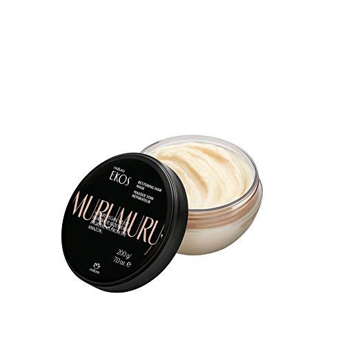 NATURA - Ekos Murumuru Reparierende Pflegemaske - Intensive Reparatur für geschädigtes, trockenes und brüchiges Haar - Anti-Frizz - Spendet Feuchtigkeit - 100% vegan -...
