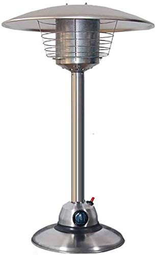 Table Top Patio Heater, Mini 3KW Portable Umbrella Gas Heater Stainless Steel Garden Comfort Patio Heater-A