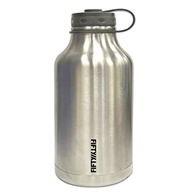 Lifeline 7500 Silver Stainless Steel Growler - 64 oz. Capacity