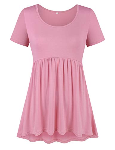 (50% OFF Coupon) Women's Round Neck Baby Doll Top $7.57