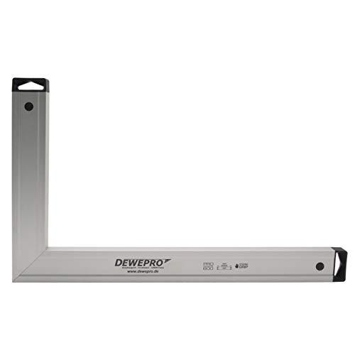 DEWEPRO® Aluminium Bauwinkel 90° - Winkel - Maurerwinkel - Messwinkel - Profilwinkel - Aluwinkel - 60x40cm