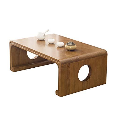 Tables basses Meubles Salon en Bois Massif Petite Table d'ordinateur de lit en Bois, Balcon Chambre Tatami Tables (Color : Brown, Size : 30 * 40 * 50cm)
