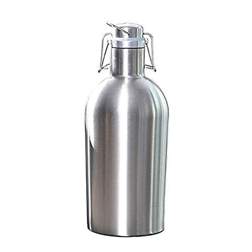 Bierflaschen Außenbierflaschen 2L Großraum-Edelstahlbierknurrer Sicherer Schwenkdeckel