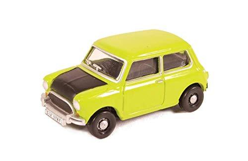 Mini Cooper, hellgrün/mattschwarz, Mr. Bean, Modellauto, Fertigmodell, Oxford 1:76