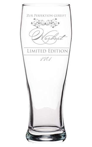 Weizenbierglas mit Gravur Name und Jahr | Bierglas mit Spruch bis zur Perfektion gereift | Personalisiertes Bierglas | Geschenk für Männer