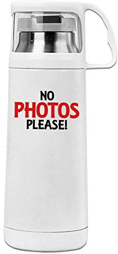 Bestqe Termo,Botella de agua,Tazas térmicas NO Photos Please 11.8oz Travel Vacuum Insulated Water Bottle Cover Cup Stainless Steel Thermos Cup