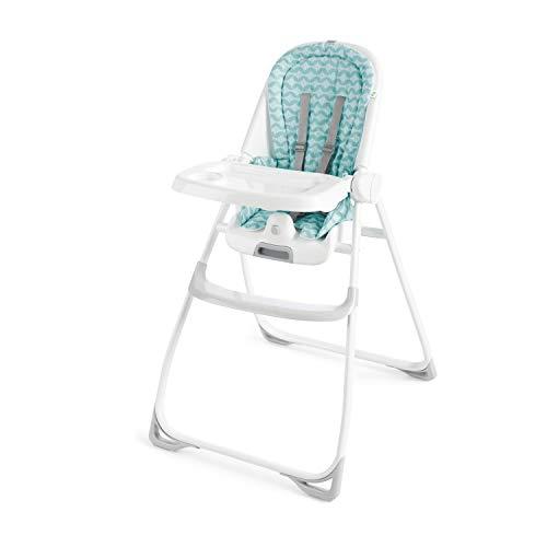 Ity Ingenuity Yummity Yum Goji - Trona plegable con bandeja apta para lavavajillas, arnés de 5 puntos, asiento acolchado lavable a máquina, fácil de guardar