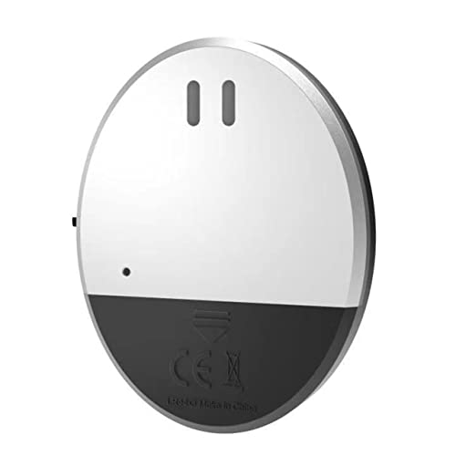 MARSPOWER 100db High Wireless Anti-Diebstahl-Alarm Vibrationssensor Für Tür/Fenster Intelligenter Vibrationsalarm Home Security Alarm - Silber 7x7x0,9cm