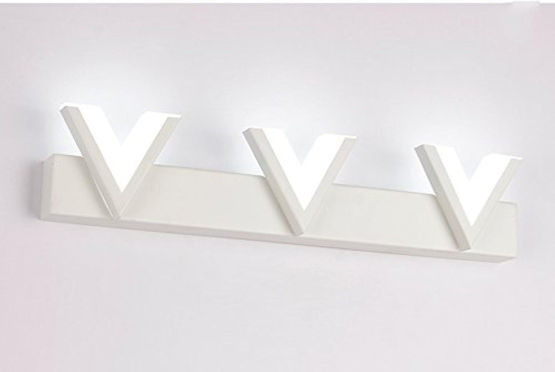 Unbekannt LED Acryl Spiegel Vorne Lampe Modern Einfaches Schlafzimmer Dresser Bad WC Spiegel Licht