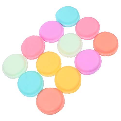 STOBOK Caja Macaron Colorida Mini Macaron en Forma de Caja de Almacenamiento de Joyería de Caramelo Organizador Caja de Pastillas Contenedor Caja de Joyería Linda 12 Piezas