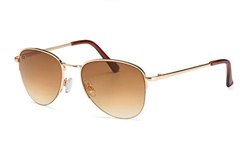 Filtral Kleine Pilotenbrille/Unisex Fliegerbrille für Damen & Herren mit Verlaufstönung/Speziell für schmale, kleine Köpfe F3002419
