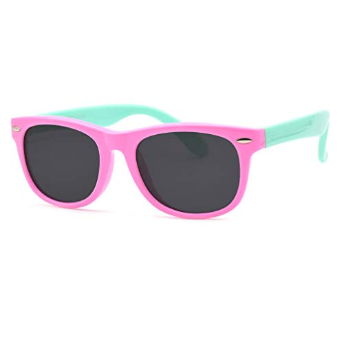 JUSLINK Toddler Sunglasses, Polarized Flexible Kids Sunglasses for Girls Boys and Baby Age 2 to 10