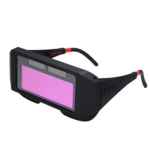 Lasbril, op zonne-energie Automatisch lasfilters Glas Foto-elektrische lashelm Praktische bril