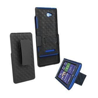 HTC 6990 VERIZON Oem NEW HTC Windows Phone 8X Shell Combo W/holster & Kickstand NON RETAIL PACKAGE