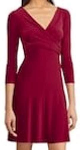 Chaps Women Dress Magenta Stretch Size XL