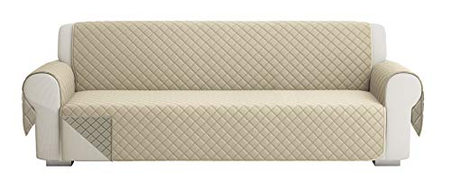 SofaüBerwurf Sofa Cover 4 Sitze (220 cm), Sofaschoner, Sofa Cover Abdeckung, Schonbezug, Sofabezug, Rutschfes, Reversible Gesteppte