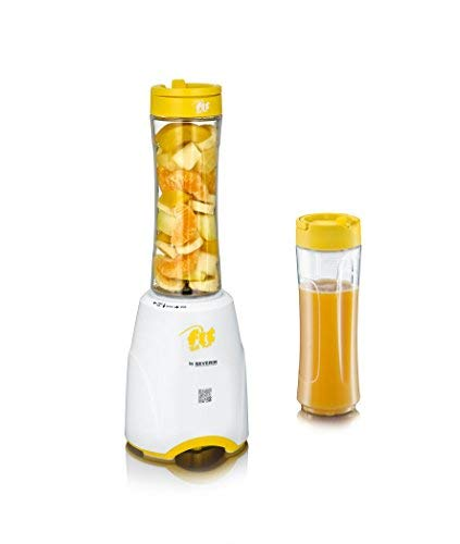 Severin Fit for Fun SM 3735 Blender Smoothie Mix and Go, 600 ml wit/geel