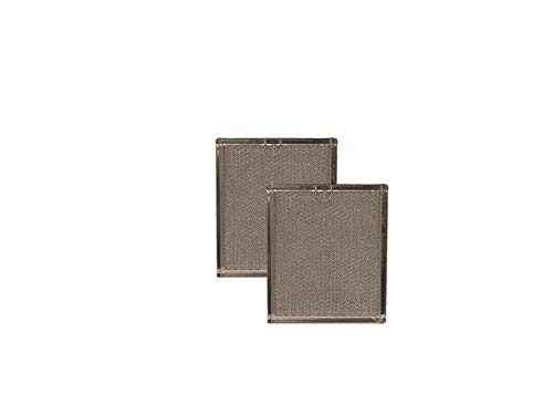 """2-Pack AF Compatible Replacement for GE WB6X486, WB06X10125, G-5798 Aluminum Mesh Grease Microwave Oven Filters 7-3/4"""" x 9"""" x 3/32"""""""