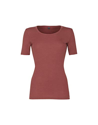 Dilling Merino Halbarmhemd für Damen - 100% Merinowolle Rouge 38