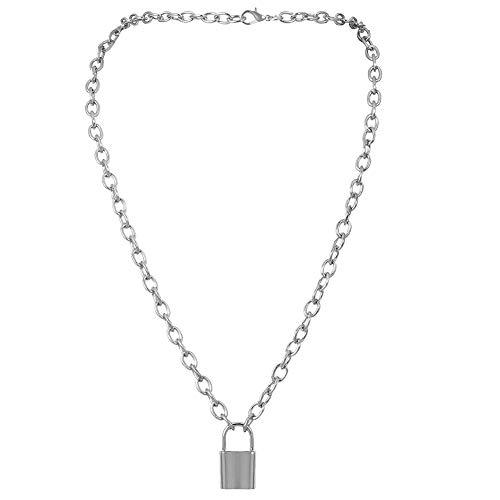 Schloss Halskette Y-Anhänger Einfache Nette Halsketten-Langkettige Art- Und Schmucksachen Für Frauen