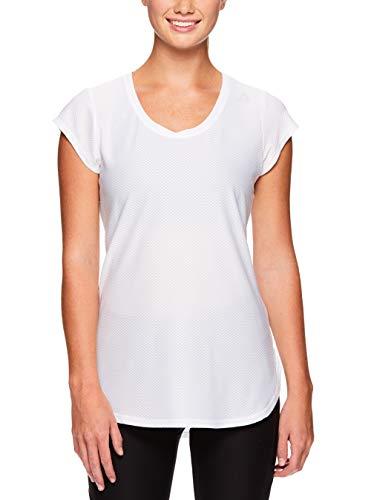 Reebok Women's Legend Performance Top Short Sleeve T-Shirt - Stark White, Large