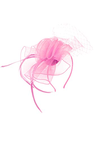 Finecy In Fascinator für Damen, Hochzeit, Rennen, Blume, Kunststoff, klein Gr. 36, rose