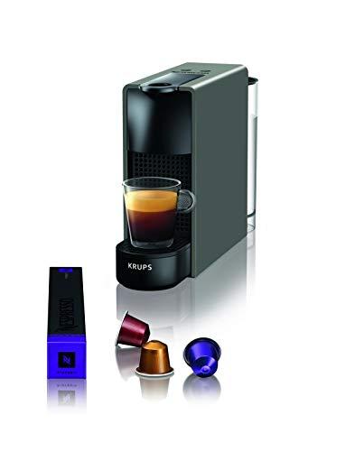 Krups Nespresso XN110B Essenza Mini Kaffeekapselmaschine | Sehr kompakt | Automatische Abschaltung | 19 Bar Pumpendruck | 0,7L | 1260W | Grau