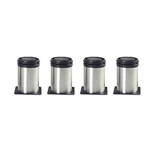 SHOP YJX 4 patas ajustables de acero inoxidable para muebles de 60 mm