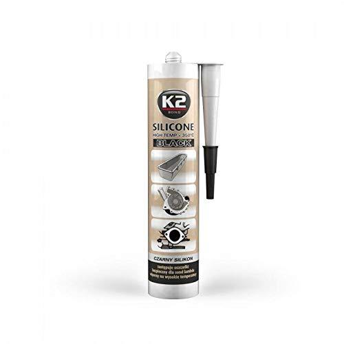 K2 Hochtemperatur Silikon, Dichtmasse, Dichtsilikon, hochtemperaturbeständig bis +350°C, schwarz, 300g