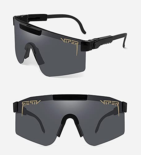 DLXYch Gafas de sol polarizadas, gafas de sol polarizadas para deportes al aire libre, gafas de sol de golf, marco grande de color para montañismo y deportes al aire libre, color negro