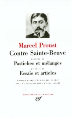Proust : Contre Sainte-Beuve (Bibliothèque de la Pléiade)