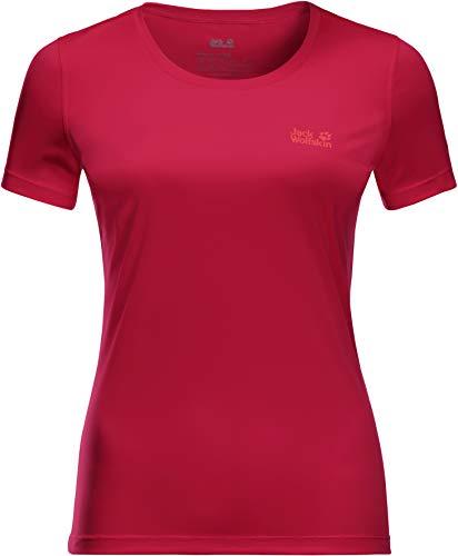 Jack Wolfskin Damen Tech T-Shirt, Scarlet, S