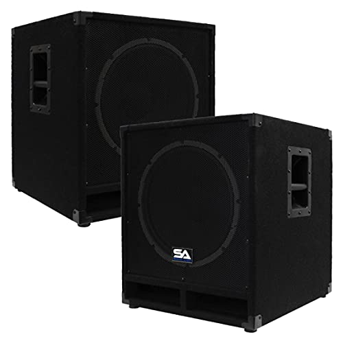 Seismic Audio - Baby-Tremor_PW - Powered 15' Pro Audio Subwoofer Cabinet - 300 Watts RMS - PA/DJ...