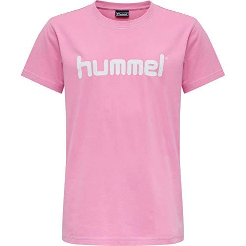 HUMMEL GO Kids Logo T-Shirt S/S, COTTON CANDY, 128