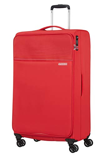 American Tourister Lite Ray Luggage- Suitcase, Spinner XL (81 cm - 105 L), Chili Red