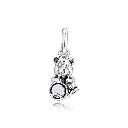 Pandora S925 colgante de joyería de plata esterlina encantos para pulseras collares joyería de plata esterlina theodore bear punk band beads envío gratis