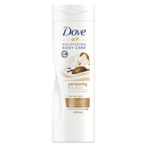 Dove Indulgent Nourishment Body Lotion With Shea Butter For Dry Skin 400ml