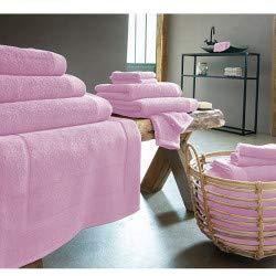 LINGE USINE Drap de Douche 70 x 140 cm Rose Coton Peigné 600 GR
