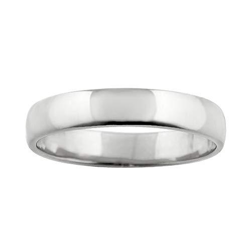 [ジュエリーアイ] 甲丸 指輪 4ミリ幅 リング レディース シンプル 結婚指輪 マリッジリング ブライダル 単品 日本製 ホワイトゴールドK10 K10WG 10号