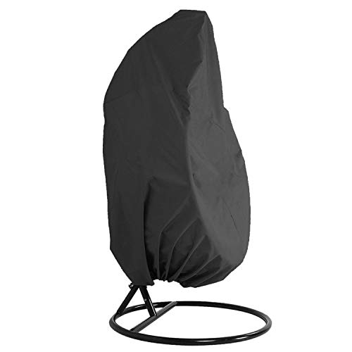SHGDDYSB Housse de Fauteuil Suspendu 190T Couverture de Chaise Suspendue Housses Imperméable pour Etanche Mobilier Balancelles de Jardin de œufs Chaise (Noir)