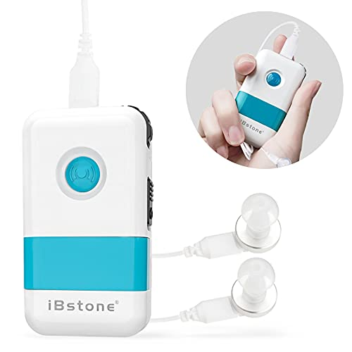 iBstone Sound Pocket Talker, Rechargeable Sound Amplifier with Headphone & Earbud, PSAP for Seniors Hearing Assist - PTK05