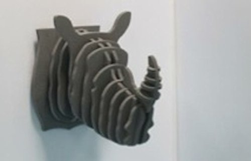 Puzzle Silicone Effet Trophée 3 D Design Rhino Gris