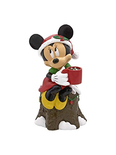 The Galway Company Disney Minnie Mouse Garden Statue Drinking Cocoa, Stands 8 Inches Tall and 5 Inches Wide
